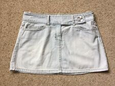 LADIES PALE BLUE DENIM SKIRT FROM VILA CLOTHES  SIZE L  GREAT COND