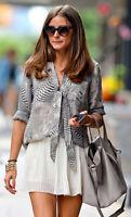 Zara Beige Pleated Mini Skater Skirt Cream Summer Blogger Size M