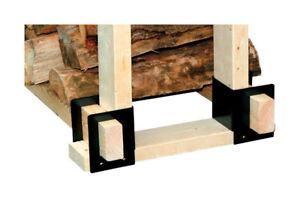 Panacea Powder Coated Steel Log Rack Brackets Indoor and Outdoor