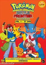 DVD POKEMON ADVANCED GENERATION BATTLE FRONTIER 神奇宝贝超世代 VOL 1-47 END+Free Gift
