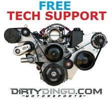 Dirty Dingo LS1 Alternator Power Steering Sanden 508 Combo Kit Fits LS Corvette