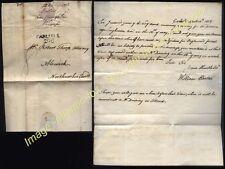 1808 CARLISLE /298 Mileage postmark on original letter William Bates to Alnwick