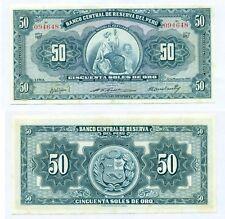 PERU NOTE 50 SOLES DE ORO 22.03.1956 P 78 UNC