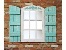 NEW RUSTIC RECLAIMED BARN WOOD WINDOW 9 PANE ARCHED FARMHOUSE MIRROR DECOR