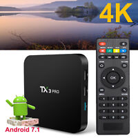 TX3PRO Android 7.1 Nougat Quad core S905W 4K Movies Media Smart 4K TV BOX WIFI