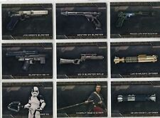Star Wars Galactic Files 2018 Complete Weapons Chase Card Set W1-10