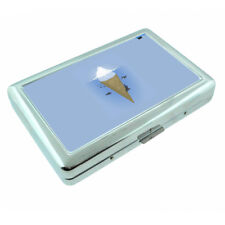 Iceberg Ice Cream Whale Em1 Silver Metal Cigarette Case Rfid Protection Wallet
