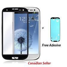 New Black Replacement LCD Front Glass Lens Samsung Galaxy S3 i9300 + Ahesive