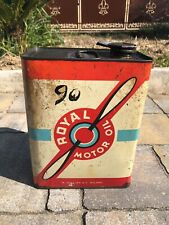 Bidon huile Royal Motor Oil 1960 Gallian oel dose oldose can garage tin schild