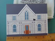 Fj Designs The Cat's Meow Village 1990 Collector Club, Amelia Earhart Birthplace