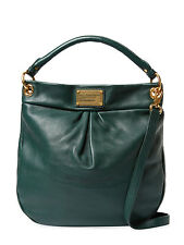 NWT MARC JACOBS ORIGINAL Classic Q Hillier Leather Hobo Bag Forest Green $428+
