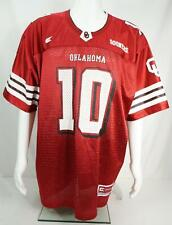 Colosseum Oklahoma Sooners #10 Men's Mess Football Jersey Red Size Large