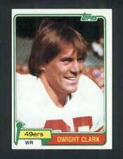 1981 Topps #422 Dwight Clark NM/NM+ RC Rookie 49ers 118131