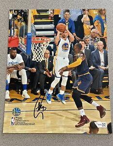 Stephen Curry vs. LeBron James 2017 NBA Finals signed 8x10 photo FANATICS