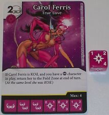 CAROL FERRIS TRUE LOVE 111/142 War Of Light Dice Masters DC
