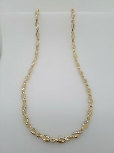 9ct Yellow and white Gold Fancy Link Chain 42.2cm 10g Pre Loved RRP $1290