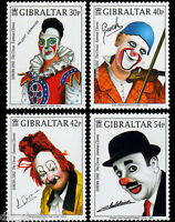 Clowns set of 4 stamps mnh 2002 Gibraltar #901-4
