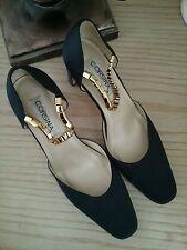 Corsina women's jewel ankle strap blue crystal shoes pumps size 6.5 B