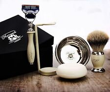 Shaving & Grooming Set |Gillette Fusion & SilverTip Badger Brush| Gift for Him