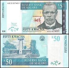 Malawi 50 Kwacha, 2005, P-53a, UNC