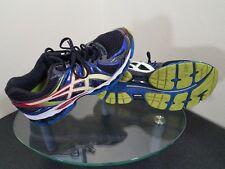 Asics Gel Nimbus 15 Mens Size 8 Black / Blue / Green Running Training Shoes
