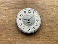 Jewel Pocket Watch Movement Waltham Secometer 12s 17