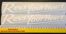 2x Blanco 255mm Calcomanía Pegatinas las revisiones tu corazón Adecuado Para Yamaha Bicicleta