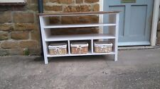 BESPOKE H65 W120 D40 TV entertainment unit stand 2 shelves table F&B POINTING