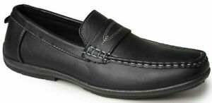Mens Loafers Slip On Driving Shoes Smart Casual Boat Deck Dress Moccasins SIZE
