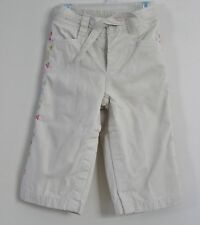 babyGap Size 12-18 Months Beige Girls Fully-Lined Snap Crotch Side Floral Jeans