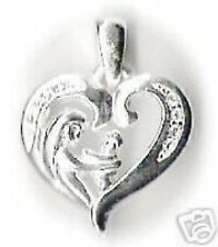 LOOK Mom baby mother Silver family charm jewerly Pendant