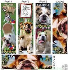 3 Lot-BULLDOG BOOKMARKS DOG English Book ART Bulldogs Rule Book Bookmark Card