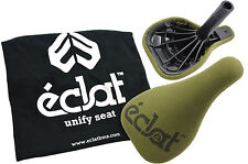 ECLAT UNIFY SEAT LIGHTWEIGHT SADDLE PADDED OLIVE GREEN+BUILT IN 25.4 SEATPOST