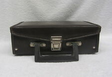 Cassette Tape Padded Vinyl Carry Storage Case 12 Audio Tapes BROWN Service Mfg