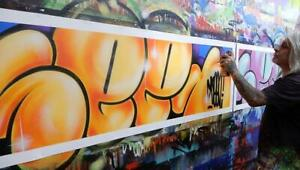 SEEN Original CANVAS BUBBLES orange Richard Mirando Graffiti Godfather cope