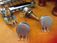 Set of 4 CTS 500K Pots - Long Split Shaft  Audio w/ 2 Vintage Taper Volume Pots