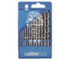 Sutton Tools VIPER METRIC DRILL BIT SET 13Pcs 118 Deg Split Point *Aust Brand