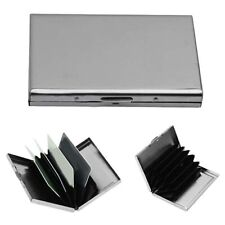 LN_ Stainless Steel Business ID Credit Card Holder Wallet Metal Pocket Box Cas