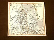 Il Fascismo in Italia Guerra d'Etiopia nel 1934 Carta geografica ferrovie strade