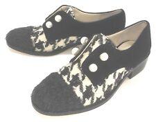 New Bettye Muller NY Fall 2017 Shoe Optimist Wood Heel Mohair Wool Pearl Sz 6M