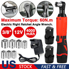 12v 38 Electric Cordless Ratchet Right Angle Wrench Impact Sockets Battery