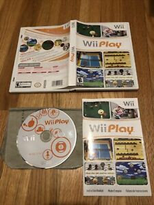 Wii Play (Wii, 2007) Complete CIB disc manual case - sports party games
