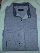 Lovely Blue Patterned NEXT SIGNATURE  L/sleeve Shirt, S/cuff  Size::XL  in VGC