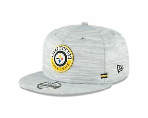 Pittsburgh Steelers NFL On-Field Player Sideline 59FIFTY Cap Hat Gray Fitted Lid