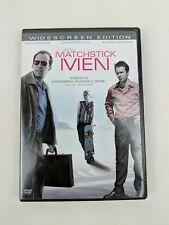 Matchstick Men Movie Dvd Widescreen Nicholas Cage Sam Rockwell 2003 Works