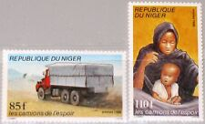 NIGER 1986 997-98 737-38 Hunger Relief Campaign Trucks of Hope Lastwagen Car MNH