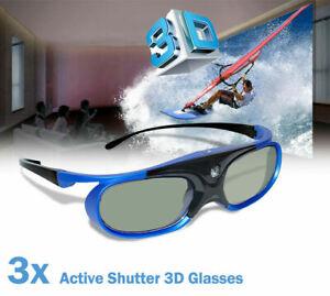 3X 3D-Brille für alle 3D-DLP-Projektoren Optoma Acer BenQ Optoma ViewSonic Blue