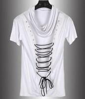 New Mens Slim Fit Short Sleeve T-shirts Korean Crew Neck Casual Summer T-shirt