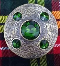 """Scottish Antique Finish Celtic Kilt Fly Plaid Brooch 5 Stone 4"""" Brooch"""