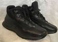 Prada Men's heavy High Top Hiking Boot lace Up Nylon and leather Size 8 1/2